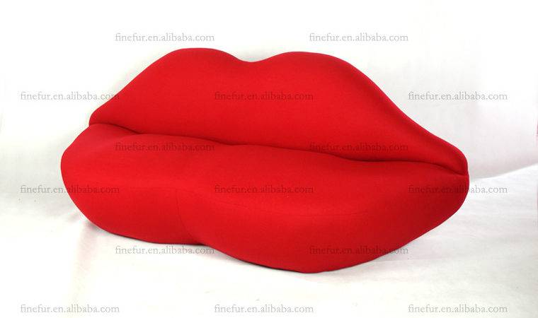 Bocca Lips Sofa Red Lip Shaped Fabric