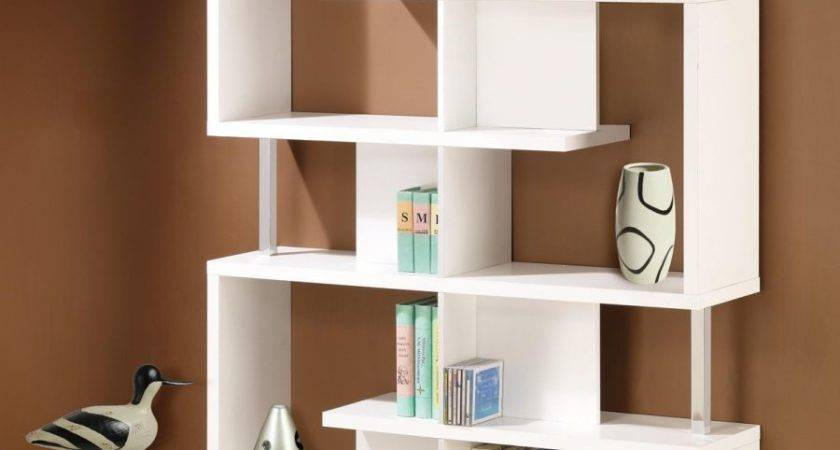 Bookcase Furniture Modern White