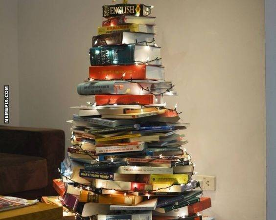 Bookish Christmas Trees Get Holiday Spirit