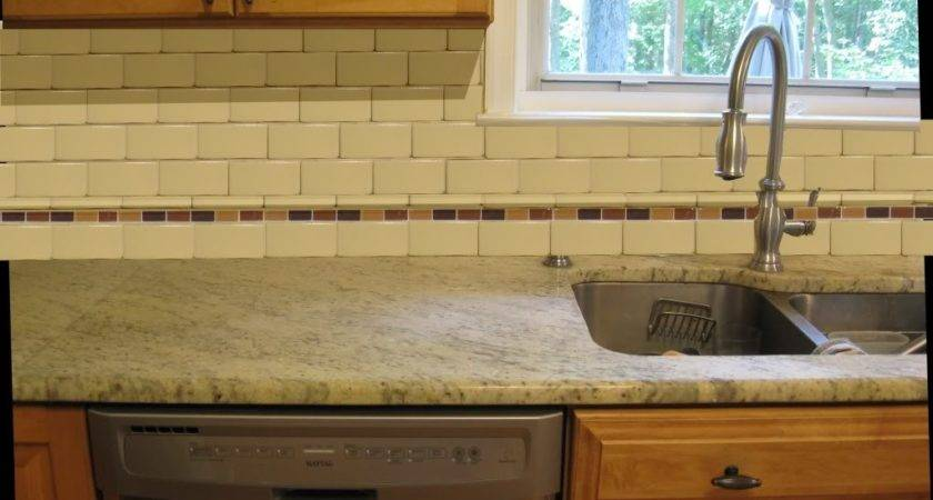 Border Ceramic Subway Tile Back Splash