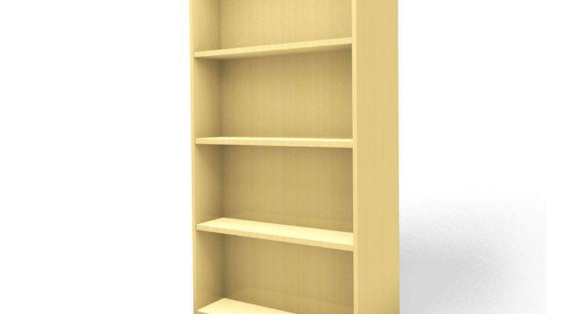 Bradmore Library Book Shelving Maple Double Sided