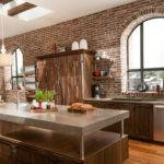Brick Accent Wall Kitchen