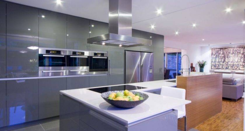 Bright Kitchen Lighting Glossy Cabinet Design Your Own
