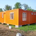 Bright Orange Container Homes Living