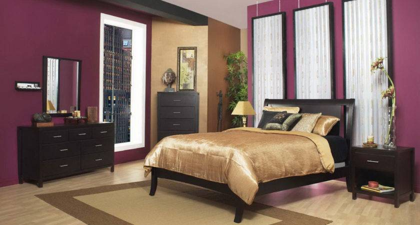 Brown Dark Purple Theme Bedroom Decosee