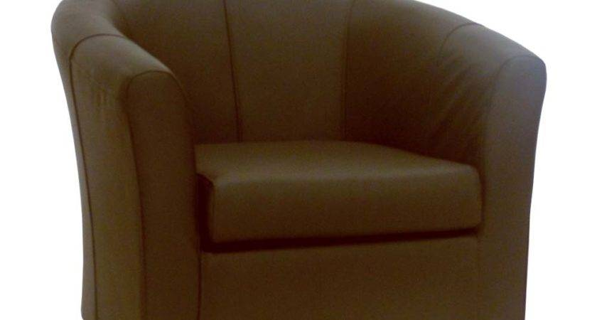Brown Leather Tub Chair Real Chairs