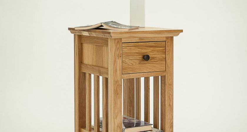 Brown Wooden Narrow Bedside Table Great Design