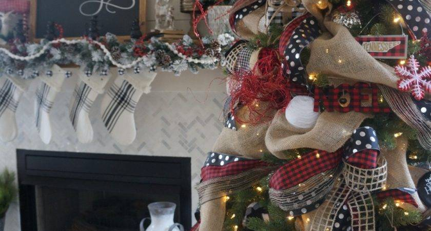 Buffalo Check Inspired Christmas Living Room Learn