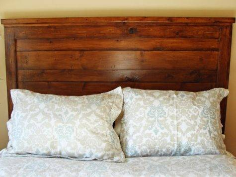 Build Rustic Wood Headboard Tos Diy
