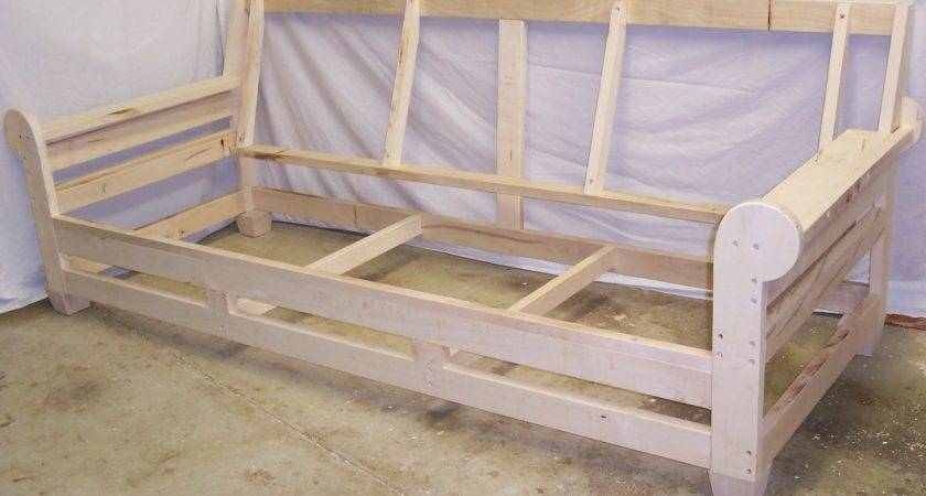 Build Wooden Sofa Frame Designs Plans Small