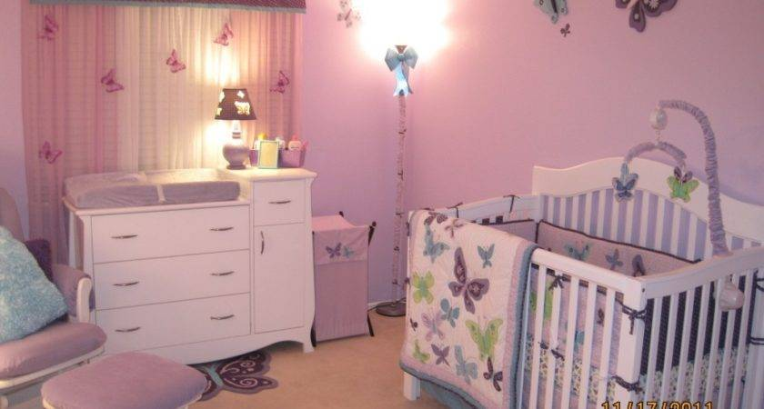 Butterfly Nursery Decor Baby Room Ideas Wall Pink