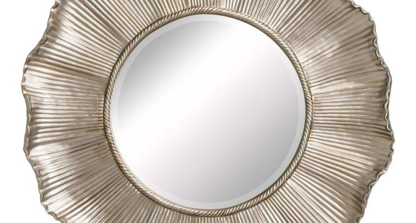 Buy Large Champagne Gold Flower Shaped Mirror Fusion