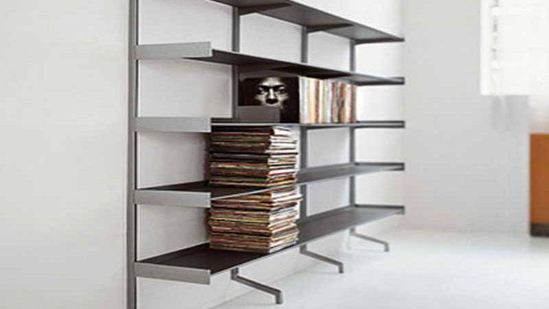Cabinet Shelving Wall Mounted Bookcase Design White