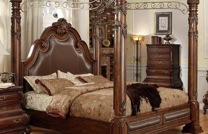 Calidonian Four Poster Canopy Bed Cherry Dcg Stores