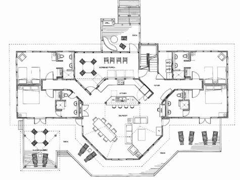 Calypso Floor Plans Oceanfront Rental Home Elbow Key