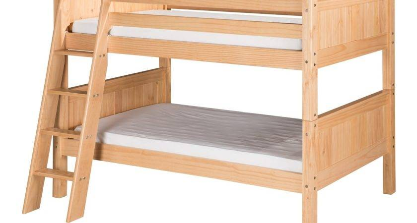 Camaflexi Twin Low Bunk Bed Angle Ladder Panel