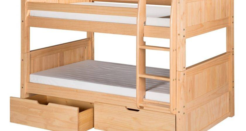 Camaflexi Twin Low Bunk Bed Drawers