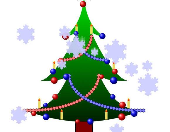 Can Draw Christmas Tree Decorations Using