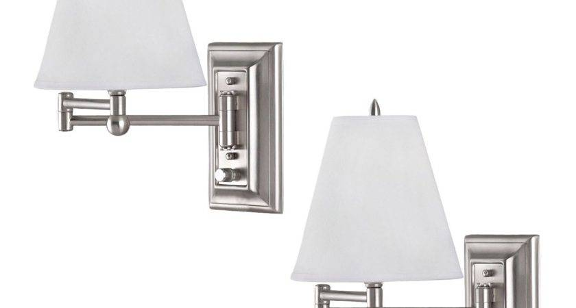 Canarm Iwf Wall Mount Swing Arm Reading Bedside Lamp