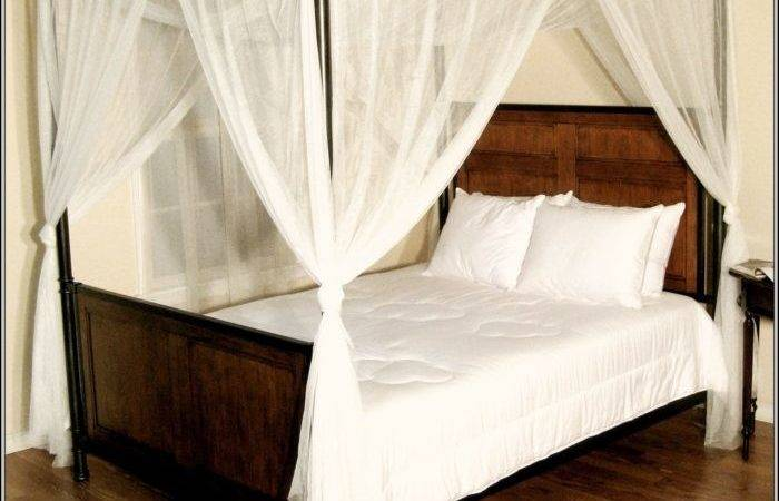 Canopy Bed Drapes Bedroom Home Decorating Ideas