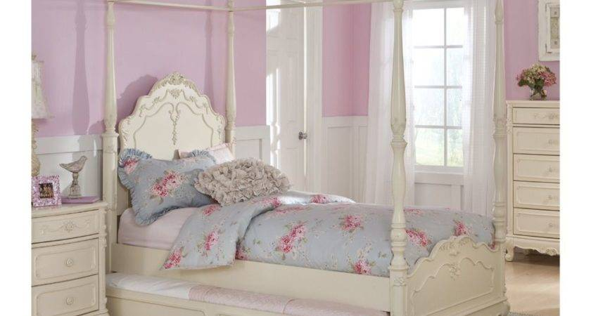 Canopy Girls Twin Bed