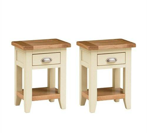Canterbury Cream Set Small Bedside Tables Including