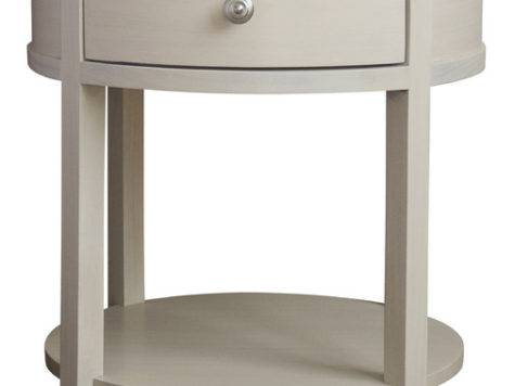 Carlisle Round Bedside Table Transitional Nightstands