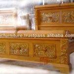 Carving Design Beds Part Wooden Bed Head Designs