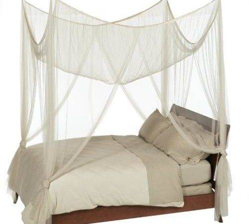 Casablanca Four Point Bed Canopy Ivory Color