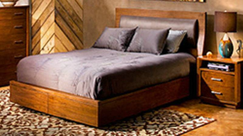 Cayenne King Bed Padded Headrest Storage