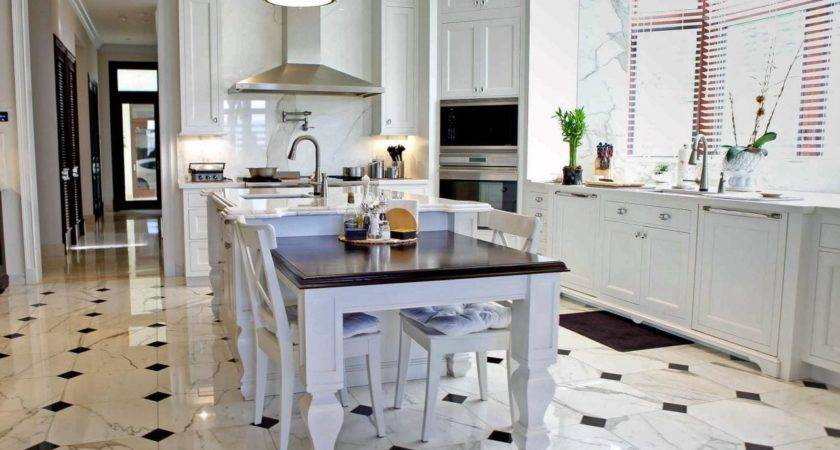 Ceramic Tile Floor Kitchen