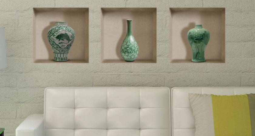 Ceramic Vase Riding Lattice Wall Decals Pag Removable
