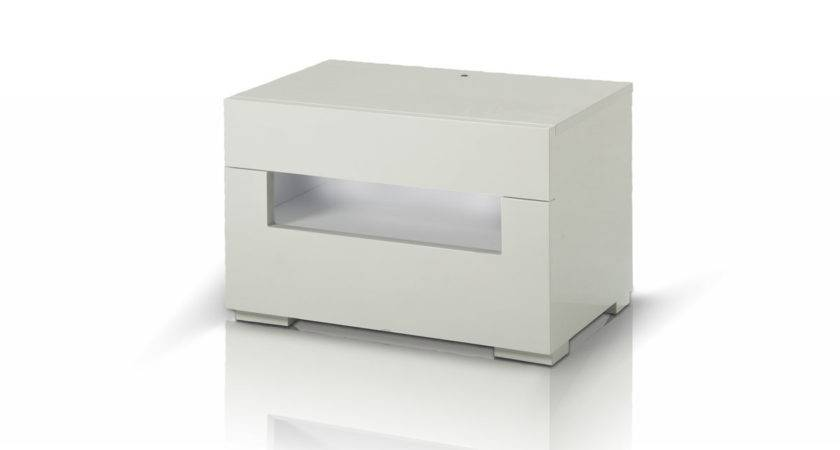 Ceres Modern White Lacquer Nightstand