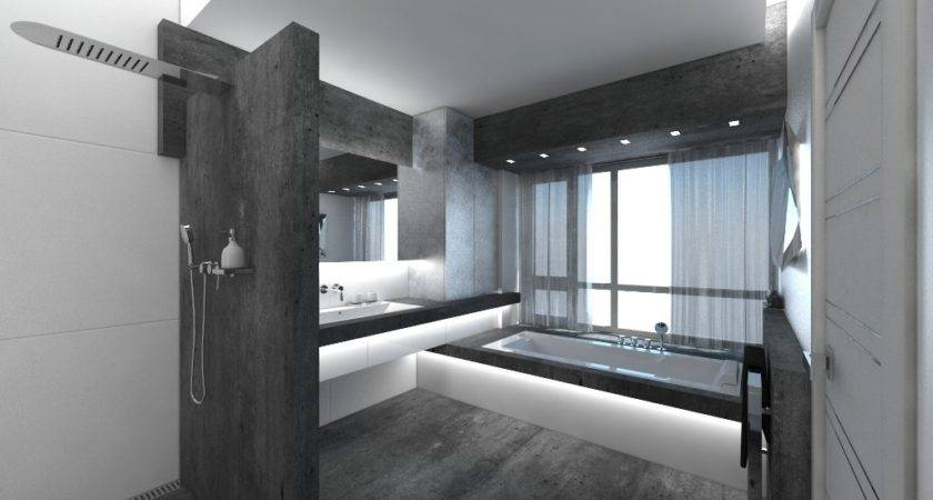 Charcoal Grey Color Bathroom Designs Home Design Inside