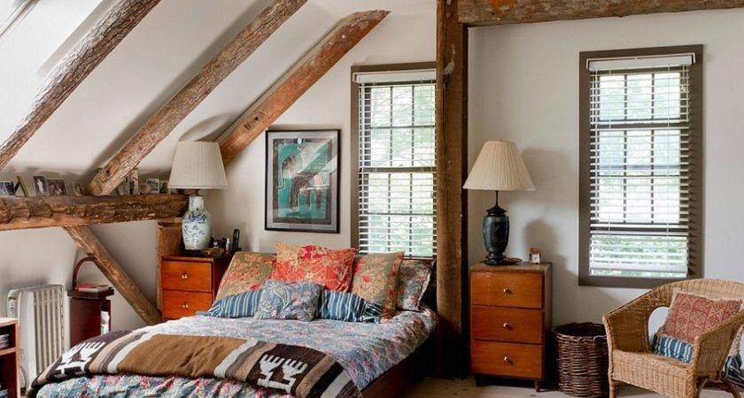 Charming Attic Master Bedroom Eclectic Boho Chic Style