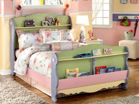 Charming Kids Bed Ideas Unique Bookshelf Headboard