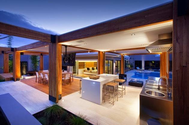 Charming Open Floor Terrace Design Touch Natural