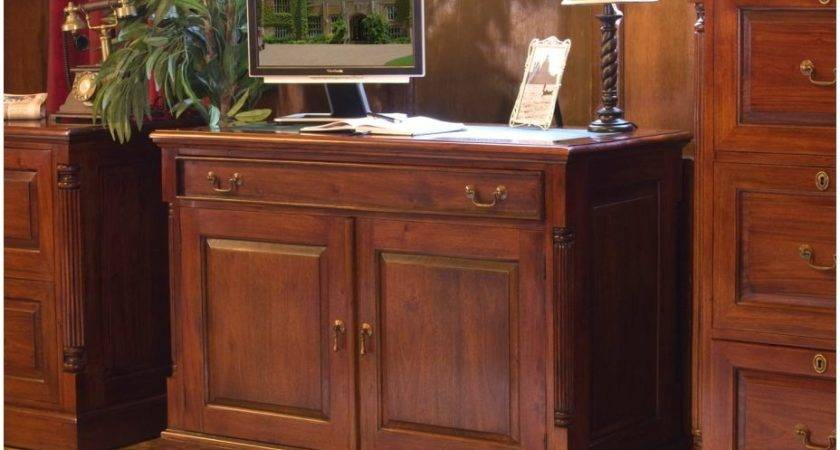 Chateau Solid Mahogany Furniture Hidden Home Office