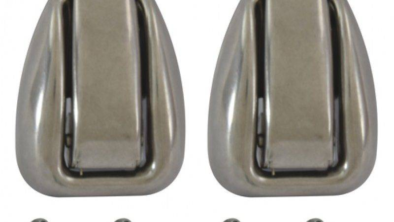 Chevy Coat Hook Stainless Retractable Pair