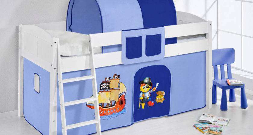 Childrens Cabin Bed Midsleeper Curtains