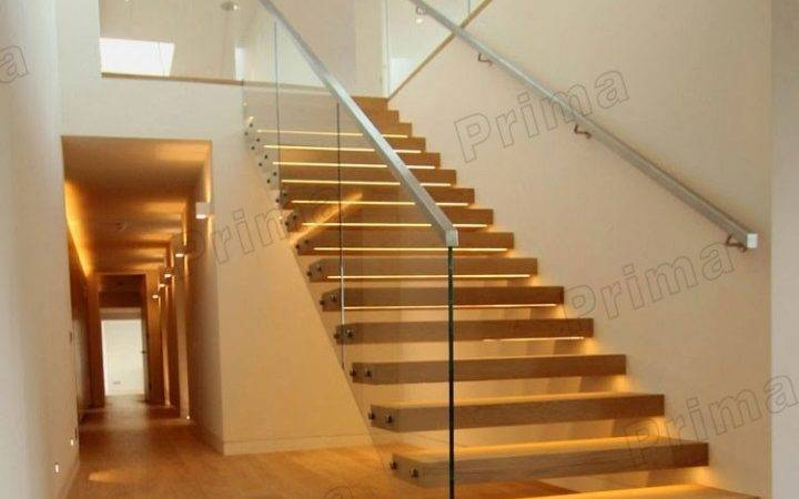 China Contemporary Solid Wood Used Floating Staircase