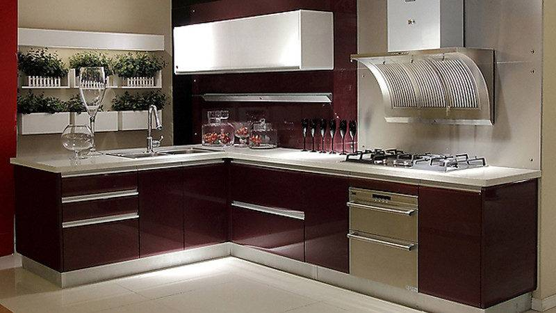 China Lacquer Series Kitchen Cabinet Furniture