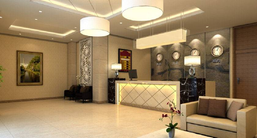 Chinese Small Hotel Lobby Design House