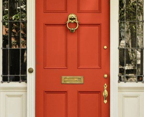 Chinoiserie Chic Front Door Coral