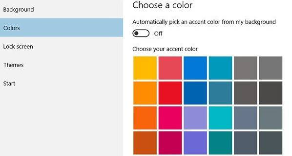 Choose Custom Windows Accent Colors