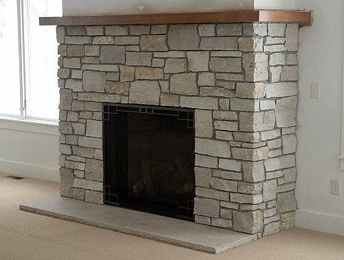 Choosing Stone Fireplace Real Faux