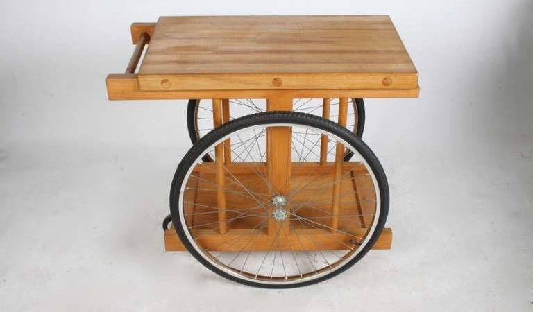 Chopping Block Wheels Bar Cart Saunders