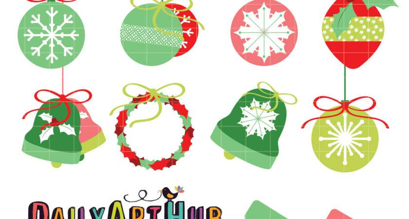 Christmas Decorations Clip Art Set Daily Hub