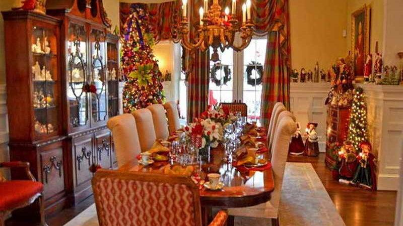 Christmas Decorations Dining Room Table Home Design