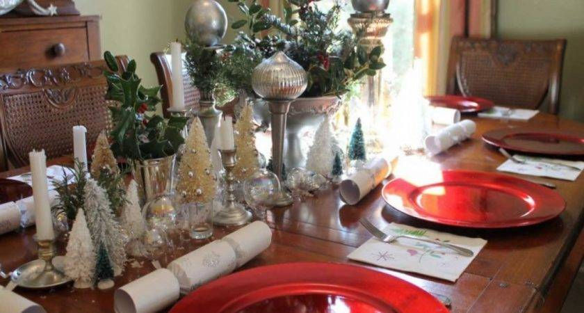 Christmas Decorations Dining Room Table Homemade